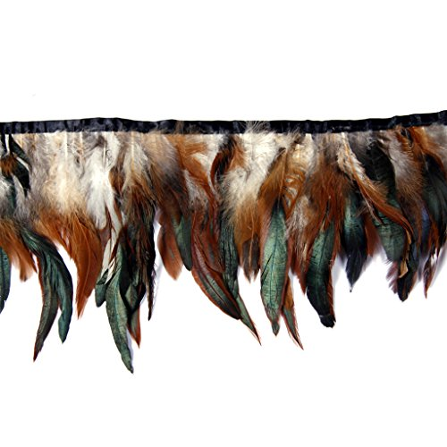 Trim Boa Feather (Cocktail Feather,Hgshow High quality feathers Fringe Trim quantity Size 72-Inch)