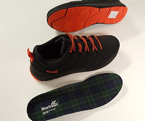 Boxfresh , Chaussures de ville à lacets pour homme noir Schwarz Orange