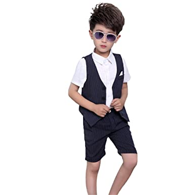 b1041117d Lolanta 2PCS Boys Suits Formal Baby Kids Short Suit Wedding Birthday ...