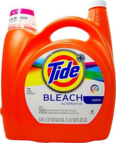 Tide Plus Bleach Alternative Liquid Laundry Detergent, 72 Loads, Original, 138 Fluid Ounce - Bleach Liquid Laundry Detergent