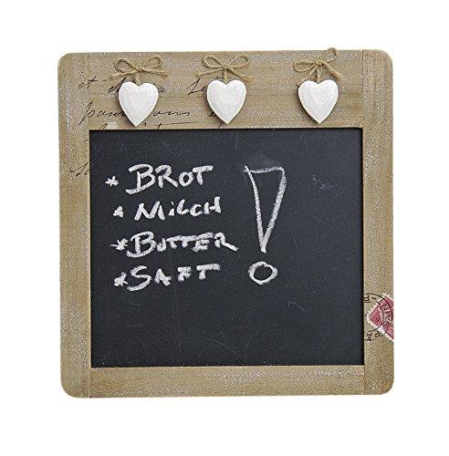 Landhaus Memotafel Küchentafel 3 Herzen