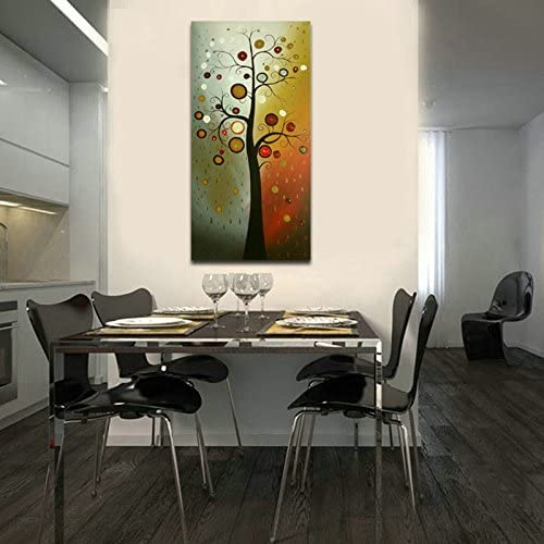 Wieco Art Life Tree Large Floral Oil Paintings on Canvas Wall Art Ready to Hang for Living Room Bedroom Home Decorations Modern 100 Hand Painted Stretched and Framed Grace Abstract Flowers Artwork