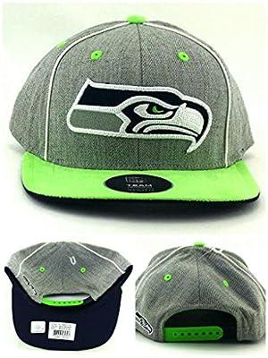 OuterStuff Seattle Seahawks New Youth Kids Heather Gray Green Blue Era Snapback Hat Cap