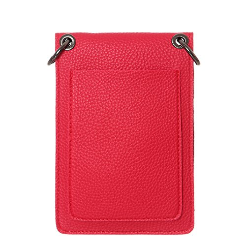 Phone Red Crossbody For Women Synthetic Leather Purse Cell Bags Wallet Small HxqZdRBv