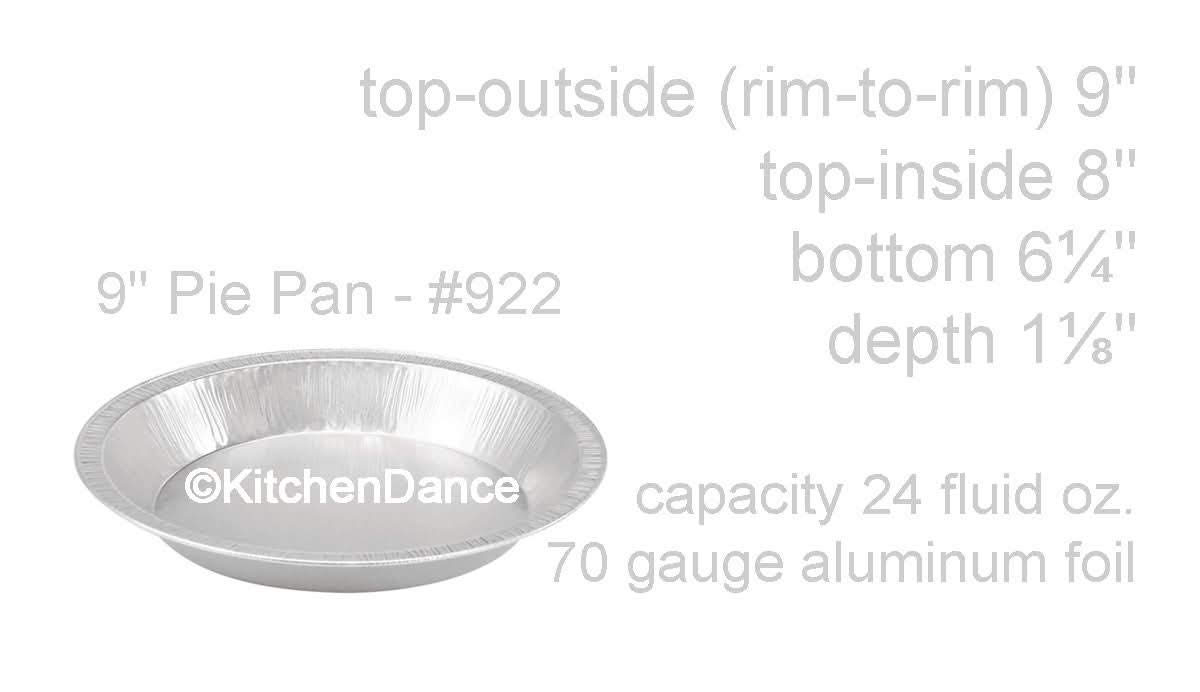 KitchenDance 9'' Smoothwall Disposable Pie Pans #922 (500)