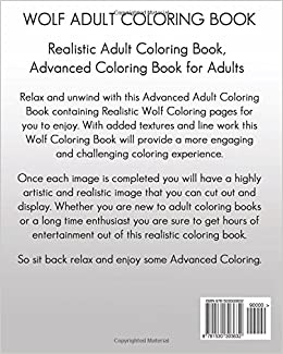 amazon com wolf coloring book realistic coloring book