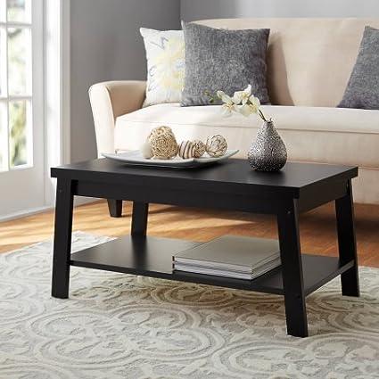 oak black ct layer rectangular furniture coffee blox in p table