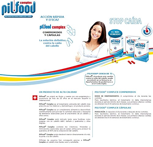 PILFOOD COMPLEX 60 COMPRIMIDOS + PILFOOD DIRECT CHAMPÚ 200 ml +++: Amazon.es: Belleza