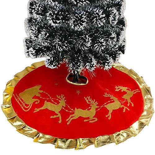 Pulvillo Albero di Natale Gonna Morbido Riutilizzabile Tessuto Diametro 89, 9 cm con Babbo Natale Modello e Gilt 9cm con Babbo Natale Modello e Gilt Pulvillus