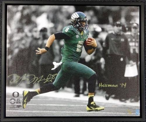 Marcus Mariota Autographed Signed Framed 20x24 Canvas Photo Oregon #/8 Mm 91863 Autographed College Art
