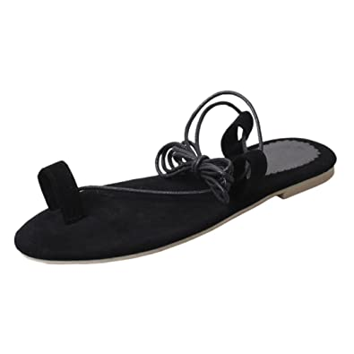 Halijack Women Sandals       Summer Laceup Peep Toe Sandals Fashion CrossStrap  Low