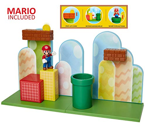 "Nintendo Super Mario Acorn Plains 2.5"" Figure Playset with Feature Accessories"