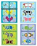 Shoezooz Educational Shoe Stickers for Kids - 4 Pack (Birds/Farm/Jungle/Sea)