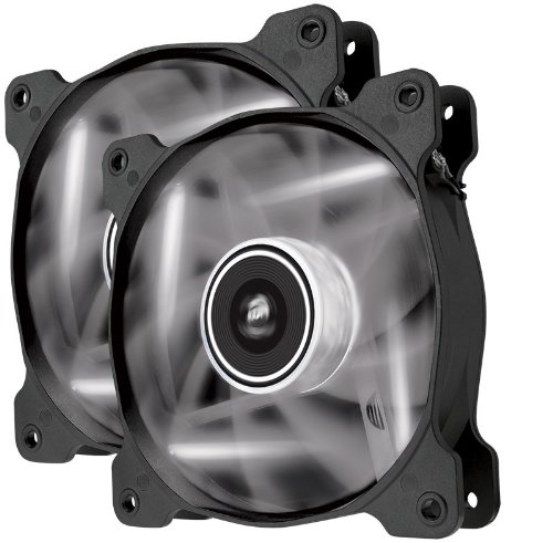 Corsair Air Series AF120 LED Quiet Edition High Airflow Fan Twin Pack - White