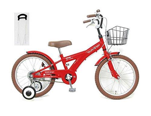 【手押し棒セット】子供用自転車 18インチ ROLLING RINGS BMXタイプ 子ども用自転車 キッズ 幼児車 ローリ 男の子 女の子 B01NBIQ2LC レッド レッド