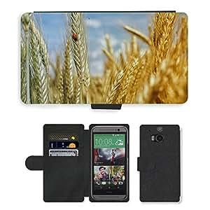 PU LEATHER case coque housse smartphone Flip bag Cover protection // M00133637 Campo de maíz de trigo campo de trigo // HTC One M8