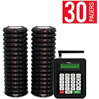 Long Range Pager Digital Coaster 2.0 Paging System, Restaurant Pager Coaster Style System,Red LED Lights (Set of 30)
