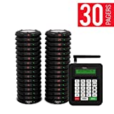long range systems - Long Range Pager Digital Coaster 2.0 Paging System, Restaurant Pager Coaster Style System,Red LED Lights (Set of 30)