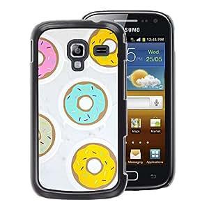 A-type Arte & diseño plástico duro Fundas Cover Cubre Hard Case Cover para Samsung Galaxy Ace 2 (Doughnut Yellow Teal Pink Pastry Sweet)