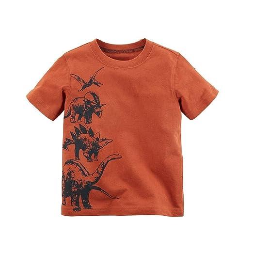 e712be64950 Hooyi Dino Baby Boy Clothes Cotton Children Tee Shirts Dinosaur Newborn T-Shirt  Kids Outfits