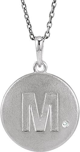 16-20 Mireval Sterling Silver Orange Enameled Awareness Silver Charm on a Sterling Silver Chain Necklace