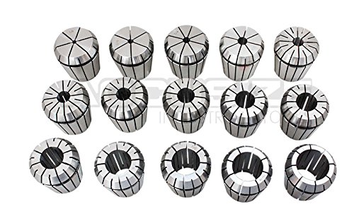 Accusize Industrial Tools 23 Pc Er-40 Collet Set, Size from 1/8'' to 1'' in Fitted Strong Box, 0223-0935