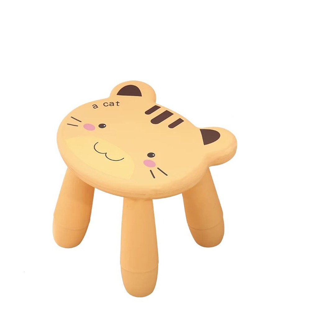 Duzhengzhou Footstool - Children's Stools Living Room Adult Plastic Cartoon Animals Cute Small Bench (Color : Cat)