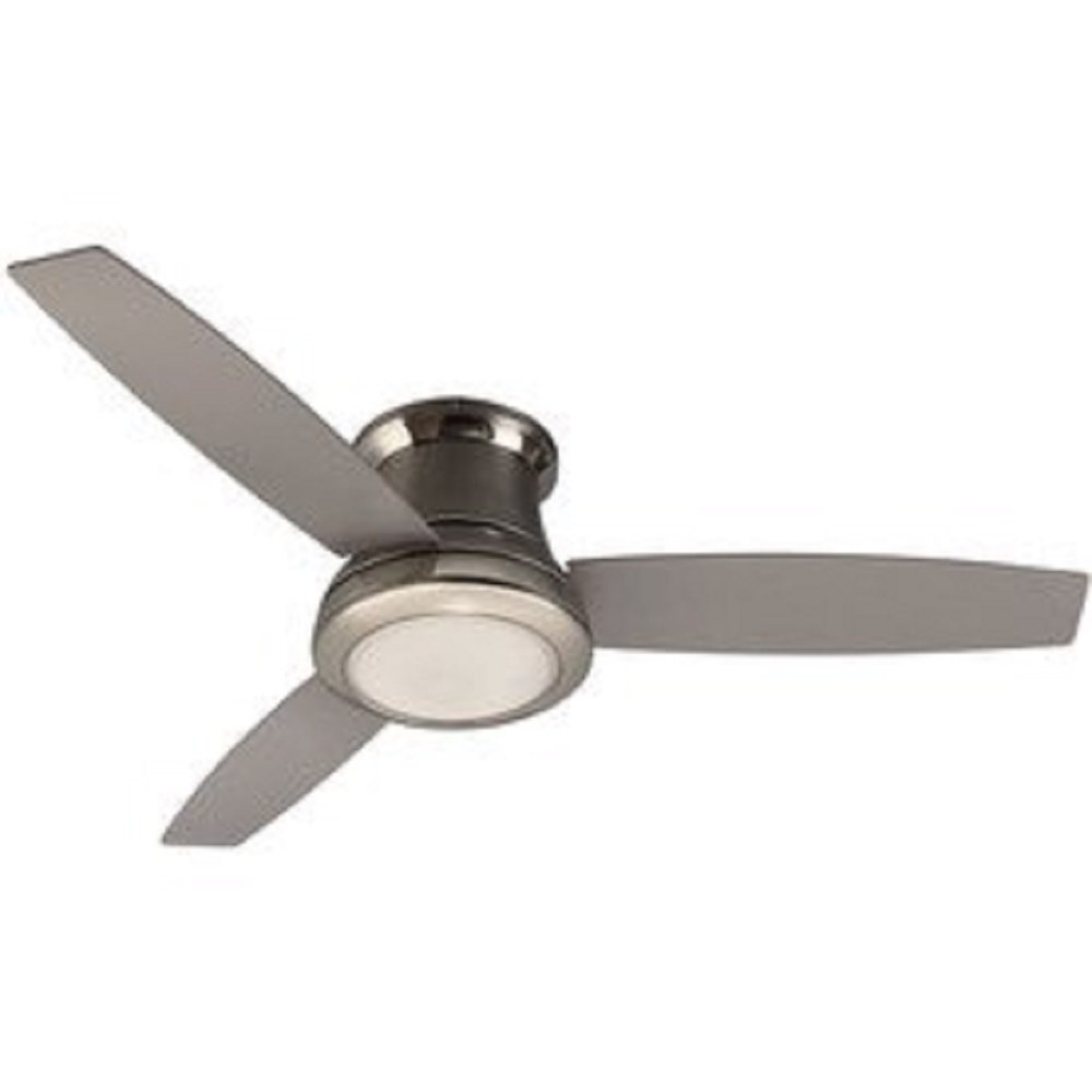 harbor breeze sail stream in brushed nickel flush mount indoor  - harbor breeze sail stream in brushed nickel flush mount indoor ceilingfan with light kit and remote (blade)   amazoncom