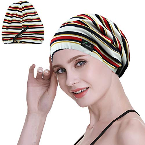 - Hair Cap,Adjustable Silk Satin Lined Sleep in Gifts for Women