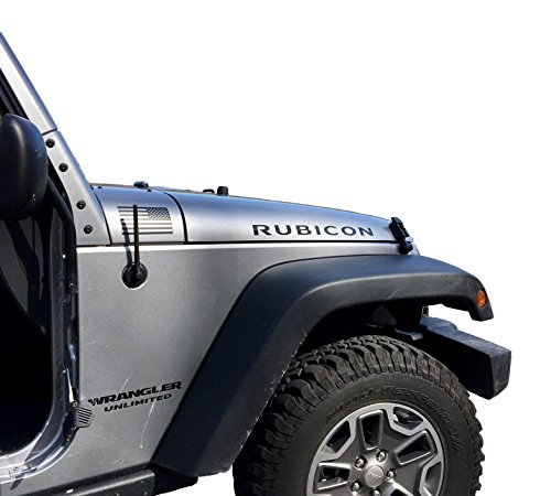 AntennaMastsRus - The Original 6 3/4 INCH is Compatible with Jeep Wrangler JK/JL | Gladiator (2007-2020) - SHORT Rubber Antenna - Reception Guaranteed - German Engineered - Internal Copper Coil