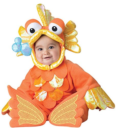InCharacter Costumes Baby's Giggly Goldfish Costume, Orange,