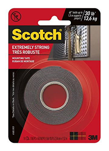 3M Scotch Extreme Mounting Tape, 1 by 60-Inch, Black ()