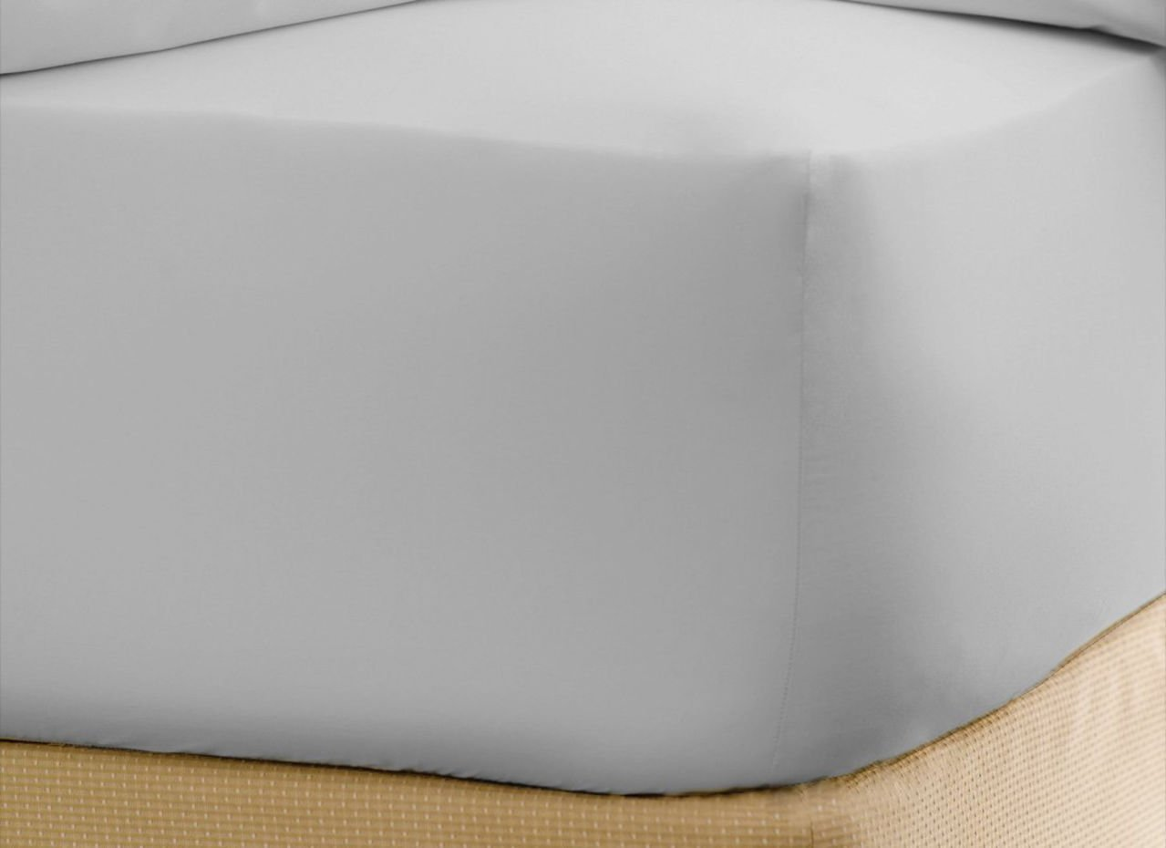 Luxurious Hotel Collection Fitted Sheet with 18'' Deep Pocket in Solid White King Size 100% Egyptian Brushed Microfiber