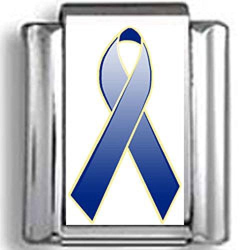 (Blue Awareness Ribbon Photo Italian)