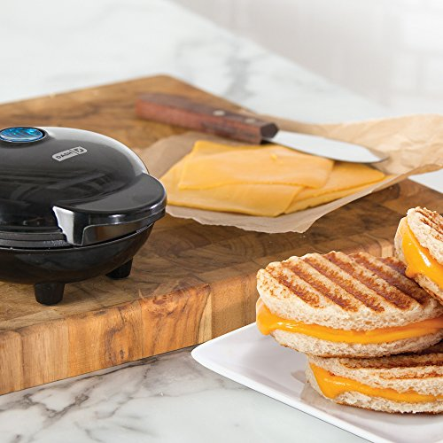 Dash Maker Portable Machine Panini Press for Burgers, Sandwiches, Chicken Other the Breakfast, Snacks with Recipe Aqua
