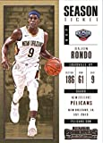 new orleans pelicans tickets - 2017-18 Panini Contenders Season Ticket (Base) #82 Rajon Rondo New Orleans Pelicans