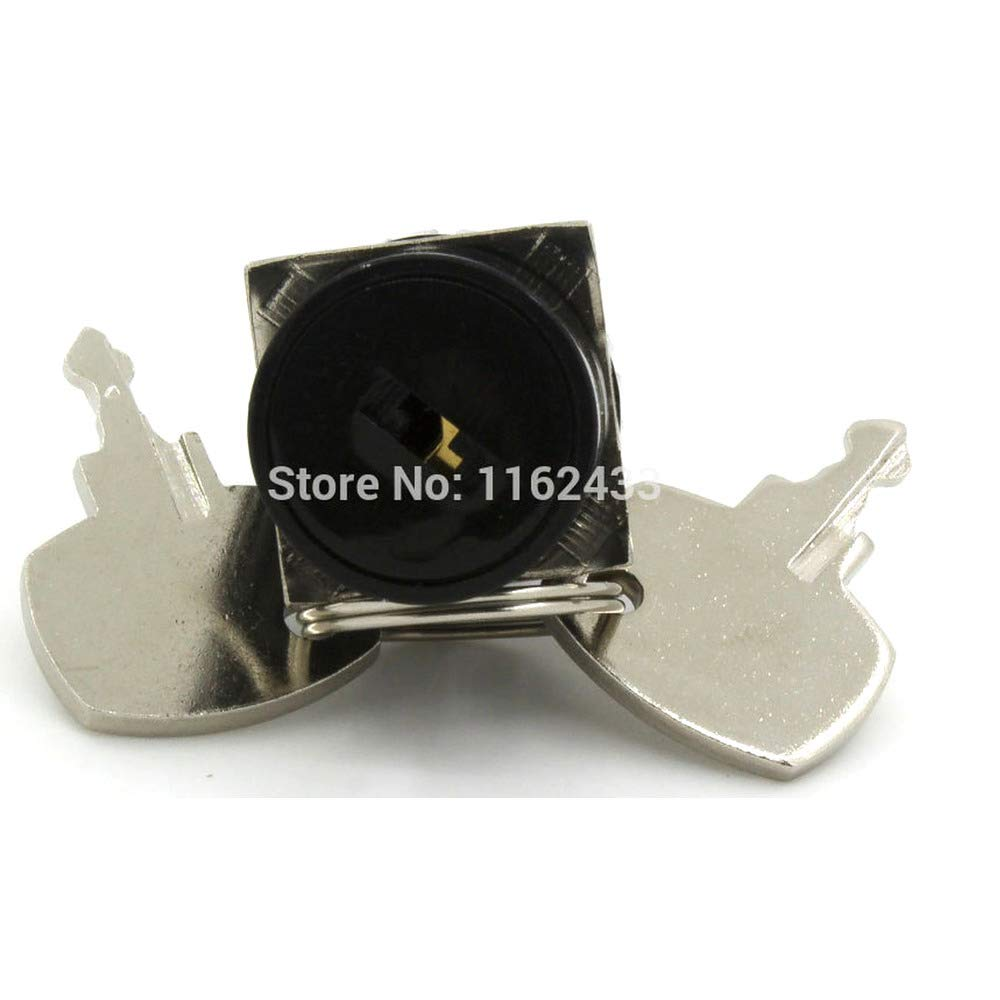 lot SA16-11Y 16mm self-Lock ON Off Key Switch Push Button pushbutton 5pcs