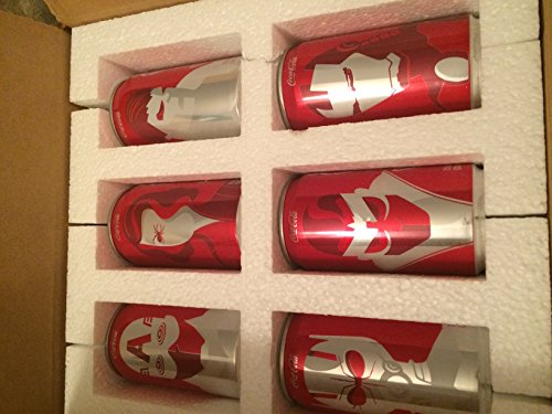 Mini Marvel Coca Cola (Coke) Collectible Cans by Coca-Cola