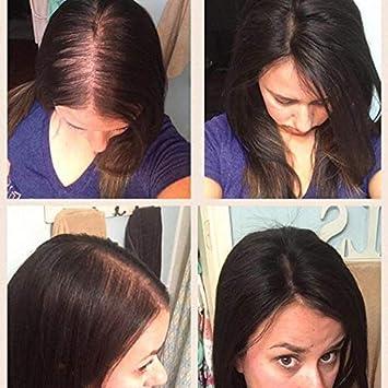 Full Shine Human Hair Topper For Thinning Hair or Short Hair 14 inch Color  #1B Off Black Hair Crown Piece...
