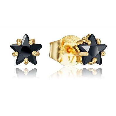Amazon.com  Viceroy Button Earrings 21008E100-35 Women Silver ... 3ca40c89c