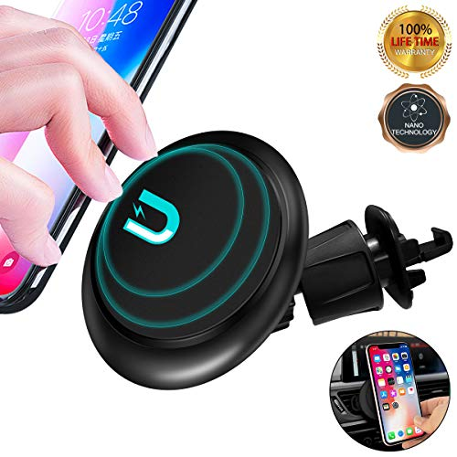 Car Phone Mount,Universal Air Vent Car Phone Holder [Nano-Suction][One Hand Operation] Car Cell Phone Mount Fits for Google Pixel 3a iPhone Xs Max Xr and Samsung Galaxy S10 Plus S10 and All Smartphone