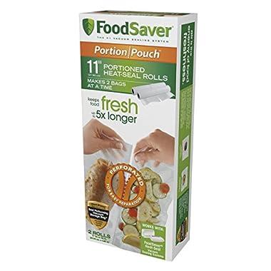 Food Saver 11  Portion Pouch Rolls, 2pk, FSFSBF2626-000