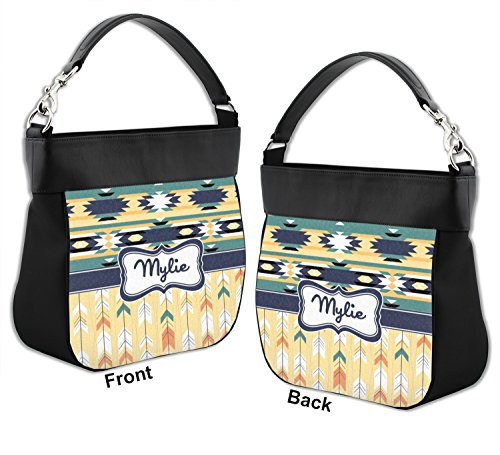 Leather Hobo w Front Purse amp; Genuine Back Personalized Tribal2 Trim 7IqxaOwq