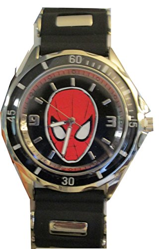 Spiderman Men's SPD1415 Black Rubber Strap Analog Watch