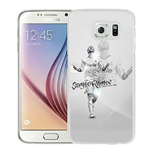 Popular Sale Samsung Galaxy S6,real madrid sergio ramos White Unique Custom Samsung Galaxy S6 Phone Case