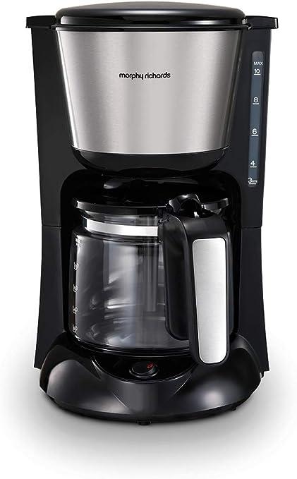 Morphy Richards 162772EE - Cafetera con filtro y termo Jarra de cristal cepillada.: Amazon.es: Hogar