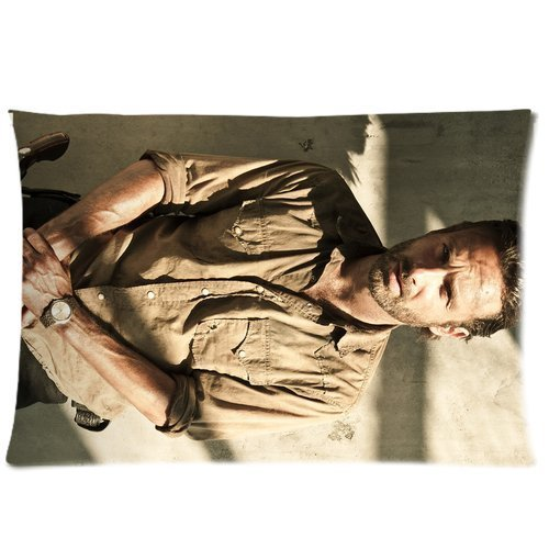 Perfect Arts Hot Movie Walking Dead Rick Grimes Unique Custom Zippered Pillow Cases 20x30 inches(50x76cm) (Two sides)