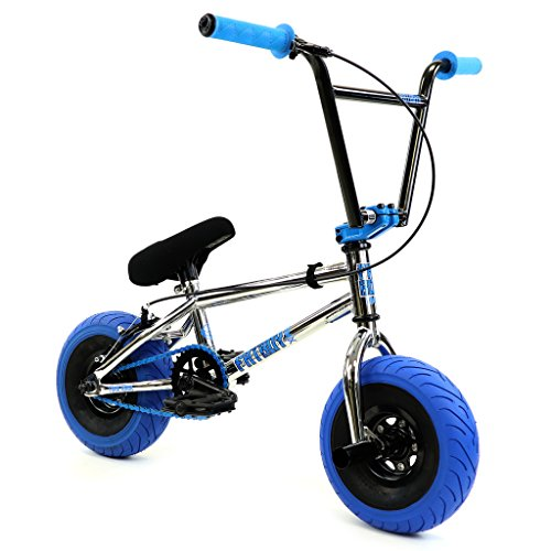 FatBoy Mini BMX Bicycle Freestyle Bike Fat Tires Chrome Assault Pro, Blue (Best Mini Bmx Bike)