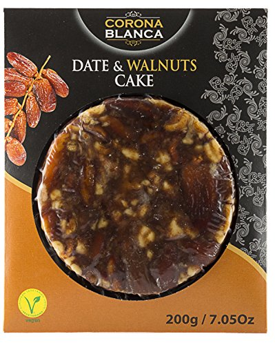 Corona Blanca Date and Walnuts Bread Cake 7.05 oz (200 gr) (Pack of 1)