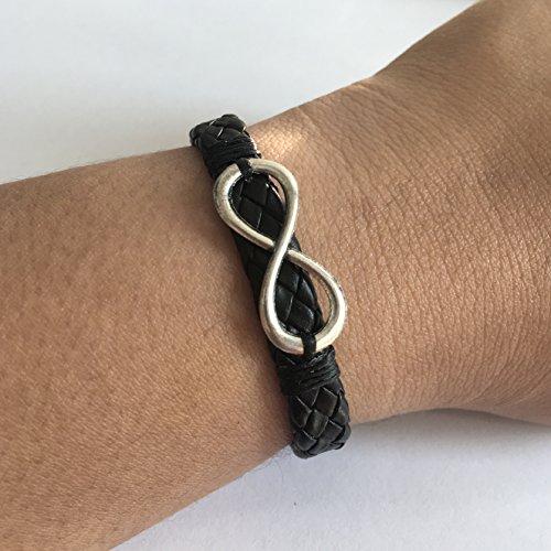 Mens Women Infinity Bracelets Bracelets Braided Handmade Leather Bracelets Wristband Cuff Wrap Adjustable